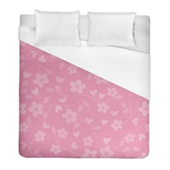 Floral Pattern Duvet Cover (full/ Double Size) by Valentinaart