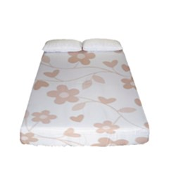 Floral Pattern Fitted Sheet (full/ Double Size) by Valentinaart