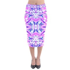 Bubblegum Dream Velvet Midi Pencil Skirt by AlmightyPsyche