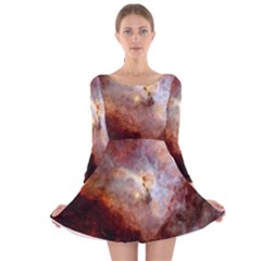 Carina Nebula Long Sleeve Velvet Skater Dress by SpaceShop