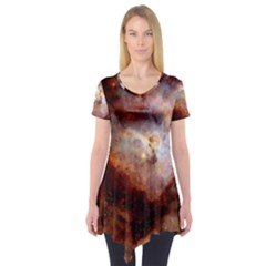 Carina Nebula Short Sleeve Tunic  by SpaceShop