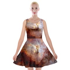 Carina Nebula Velvet Skater Dress by SpaceShop
