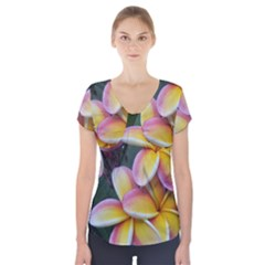 Premier Mix Flower Short Sleeve Front Detail Top by alohaA