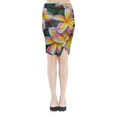 Premier Mix Flower Midi Wrap Pencil Skirt by alohaA