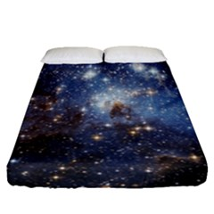 Large Magellanic Cloud Fitted Sheet (queen Size) by SpaceShop