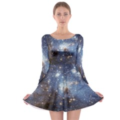 Large Magellanic Cloud Long Sleeve Skater Dress by SpaceShop