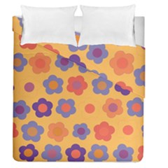 Floral Pattern Duvet Cover Double Side (queen Size) by Valentinaart