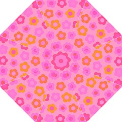 Pink Floral Pattern Straight Umbrellas