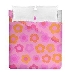 Pink Floral Pattern Duvet Cover Double Side (full/ Double Size) by Valentinaart