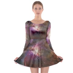 Orion Nebula Long Sleeve Skater Dress by SpaceShop