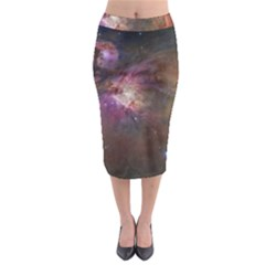 Orion Nebula Midi Pencil Skirt by SpaceShop