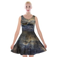 Propeller Nebula Velvet Skater Dress by SpaceShop