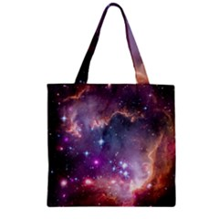 Small Magellanic Cloud Zipper Grocery Tote Bag by SpaceShop