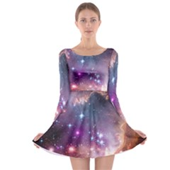 Small Magellanic Cloud Long Sleeve Skater Dress by SpaceShop