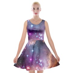 Small Magellanic Cloud Velvet Skater Dress by SpaceShop