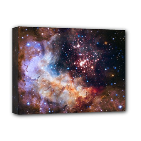 Celestial Fireworks Deluxe Canvas 16  X 12   by SpaceShop