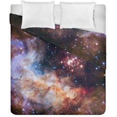 Celestial Fireworks Duvet Cover Double Side (california King Size) by SpaceShop