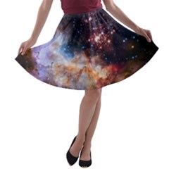 Celestial Fireworks A-line Skater Skirt by SpaceShop