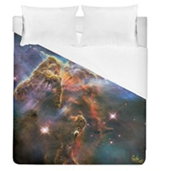 Pillar And Jets Duvet Cover (queen Size) by SpaceShop