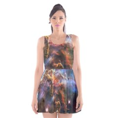 Pillar And Jets Scoop Neck Skater Dress by SpaceShop