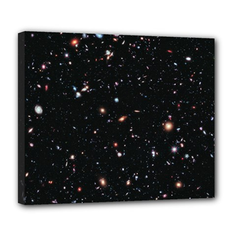 Extreme Deep Field Deluxe Canvas 24  X 20   by SpaceShop