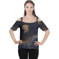 Seagull Nebula Women s Cutout Shoulder Tee by SpaceShop