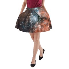Star Cluster A Line Pocket Skirt by SpaceShop