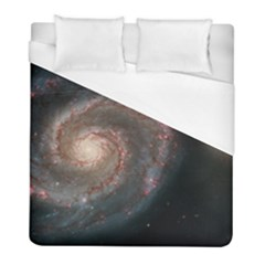 Whirlpool Galaxy And Companion Duvet Cover (full/ Double Size) by SpaceShop