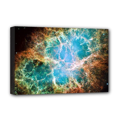 Crab Nebula Deluxe Canvas 18  X 12   by SpaceShop