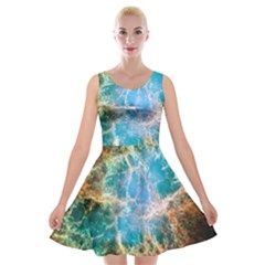 Crab Nebula Velvet Skater Dress by SpaceShop