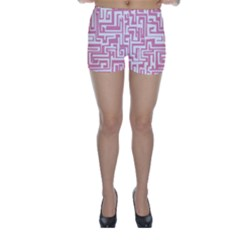 Pink Pattern Skinny Shorts by Valentinaart