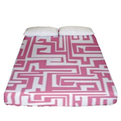 Pink Pattern Fitted Sheet (queen Size) by Valentinaart