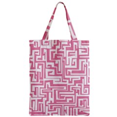 Pink Pattern Zipper Classic Tote Bag by Valentinaart