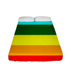 Rainbow Fitted Sheet (full/ Double Size) by Valentinaart
