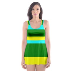 Rainbow Skater Dress Swimsuit by Valentinaart