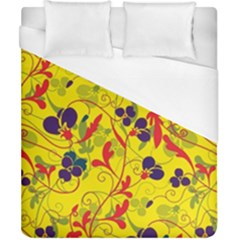 Floral Pattern Duvet Cover (california King Size) by Valentinaart