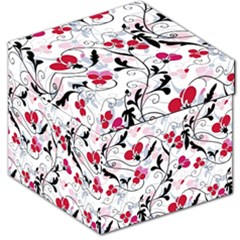 Floral Pattern Storage Stool 12   by Valentinaart