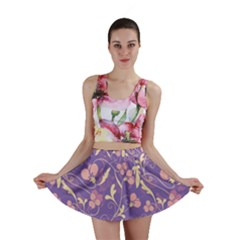 Floral Pattern Mini Skirt by Valentinaart