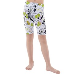 Floral Pattern Kids  Mid Length Swim Shorts by Valentinaart