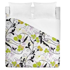 Floral Pattern Duvet Cover (queen Size) by Valentinaart
