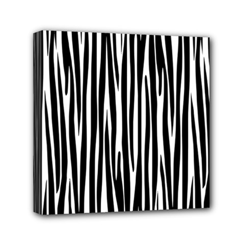 Zebra Pattern Mini Canvas 6  X 6  by Valentinaart