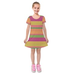 Pattern Kids  Short Sleeve Velvet Dress by Valentinaart