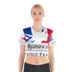 Symbol Of The French Government Cotton Crop Top by abbeyz71