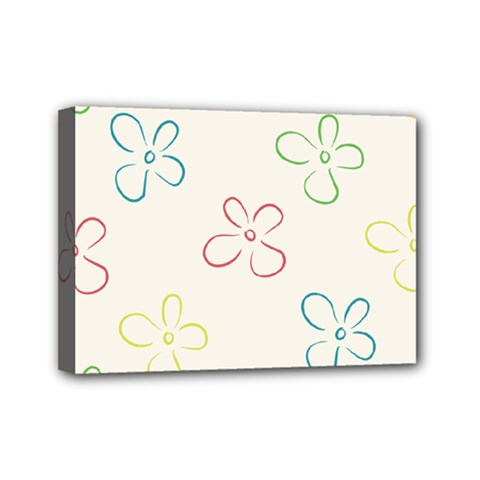 Flower Background Nature Floral Mini Canvas 7  X 5  by Simbadda