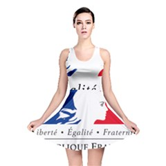 Symbol Of The French Government Reversible Skater Dress by abbeyz71