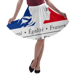 Symbol Of The French Government A Line Skater Skirt by abbeyz71
