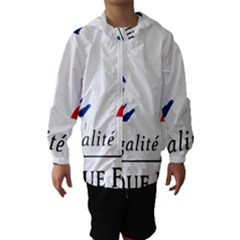 Symbol Of The French Government Hooded Wind Breaker (kids) by abbeyz71