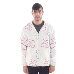 Flower Background Nature Floral Hooded Wind Breaker (men) by Simbadda
