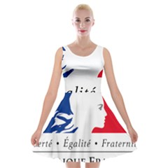 Symbol Of The French Government Velvet Skater Dress by abbeyz71