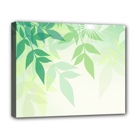 Spring Leaves Nature Light Deluxe Canvas 20  X 16   by Simbadda